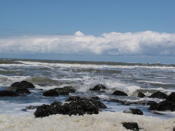 De zee en bewolking in beweging. #buienradar