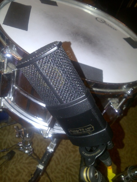 Vintage 11 by @jzmic was the mic of choice on snare today