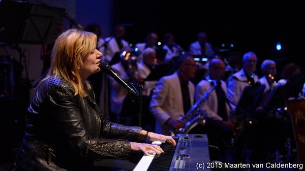 In @PERRON3 #rosmalen was zaterdag het jubileumconcert van #apmbigband met @margrieteshuijs