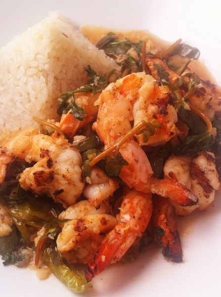 New Frontera Menu hilites: FL shrimp, garlic mojo, lobstr stock, verdolagas, watercress
