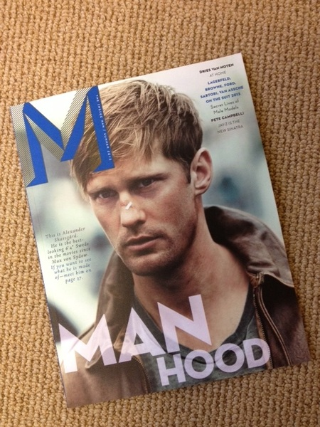 Alexander Skarsgard's hotness can't be tarnished by a band-aid in @mthemag