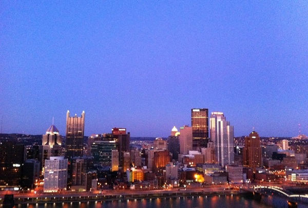 This view never gets old #Pittsburgh #skyline