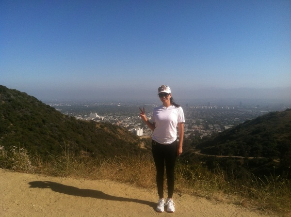 Back in la and on a hike!!! Love la