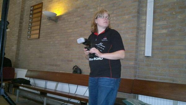 Snapshot van de cameravrouw van het team van #crhgv :)