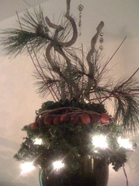 Onze alternatieve kerstboom.