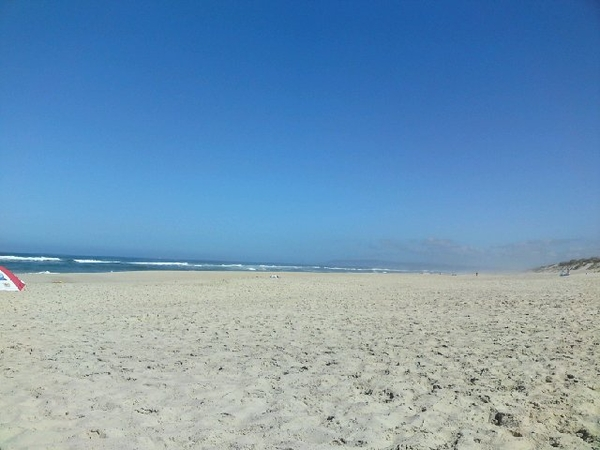 Aan het strand in midden-Portugal