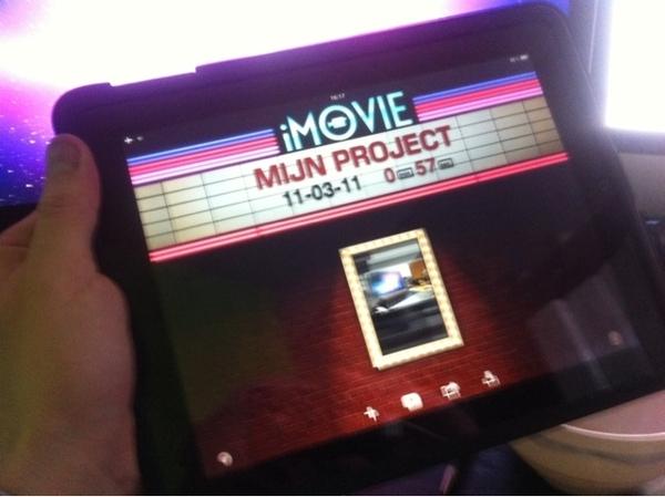 Yesss toch iMovie op m'n iPad