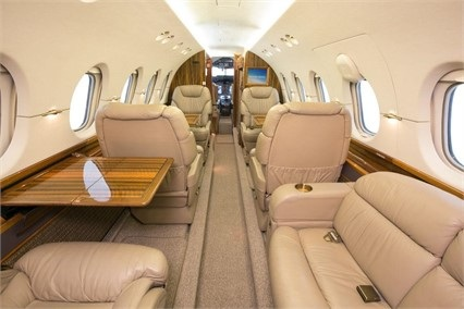 Hawker 800XP Interior Private Jet Air Charter Flight