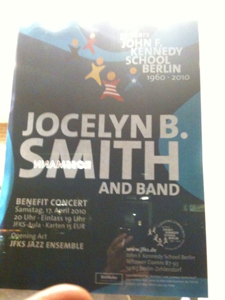 Gigs/Preview: Jocelyn B. Smith in concert am 17.04.10