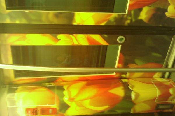bloemen in de metro