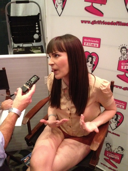 @danadearmond loves girls and girls love her! We all love her at @AEExpo booth 929!