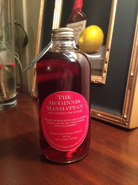 Merry Christmas, indeed. @cjmcginnis dropped off the best homemade present, a bottled Manhattan! Stealing this idea.