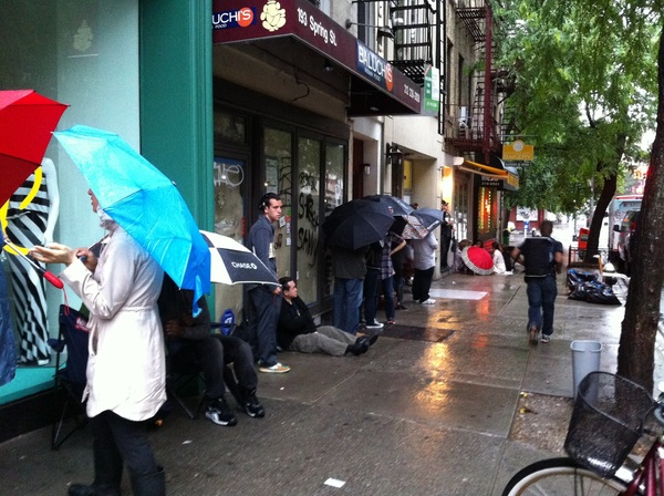 Waiting in line for a cronut (have to try!)