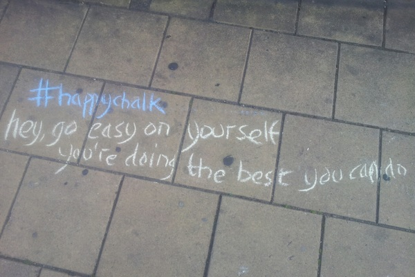 Awww some local #happychalk legality aside, quite tempted to pick up sticks myself, love a good quote..