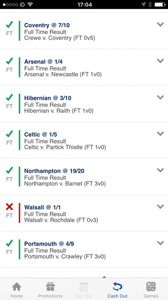 Bad times that's an 12 game acca that ultimately failed :-/…no cash out option