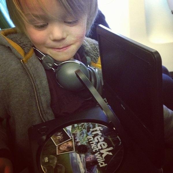 Met @freekvonk in het vliegtuig