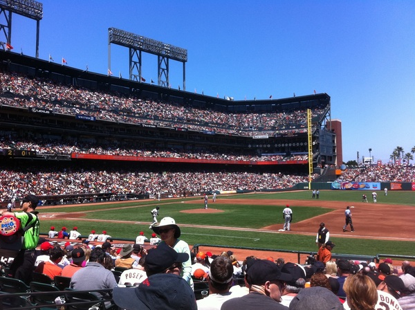 My seat at AT&T park #sfgiants #phillies