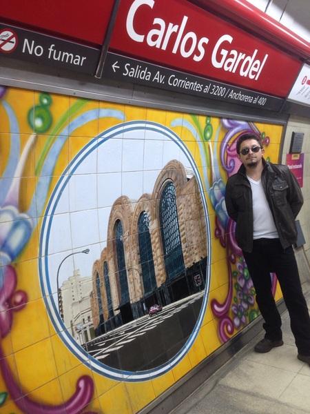 En #EstacionGardel #BuenosAires #Argentina ... ahora de regreso a casa ..!! #VamosChileMierda ..!!