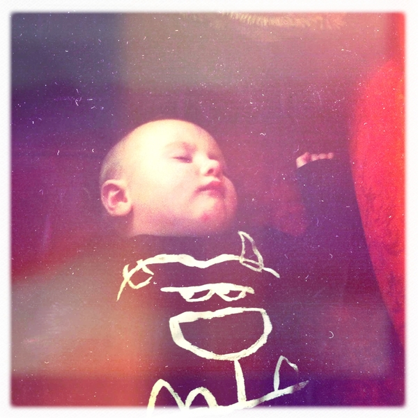 Fletcher of the day: little monster is sleeping.