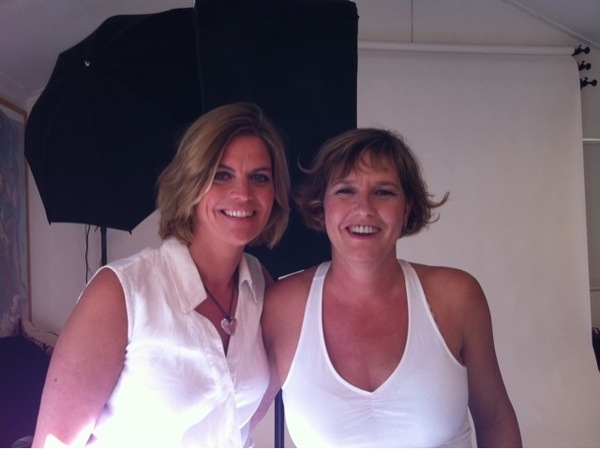 Ready for our fotoshoot at Patricia Steur #breastfriendsaward2011