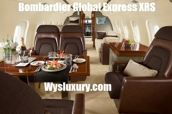 Bombardier Global Express XRS Interior Private Jet Air Charter Flight