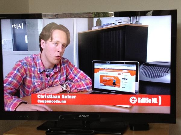 En toen was ik ineens op tv!