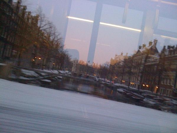 Snowy Amsterdam.