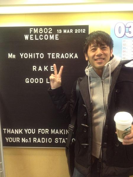 間もなく、802に出るよー(^_^)! RADIO MASTERS!