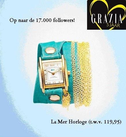 Retweet, volg @Grazia_NL & win: nog 52 nieuwe volgers en dan verloten wij een heel fijn horloge >>