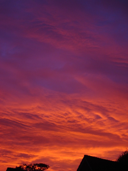 Bloody red sky! #buienradar
