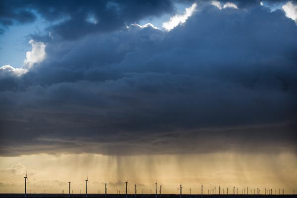 Gisteren boven Flevoland. #buienradar
