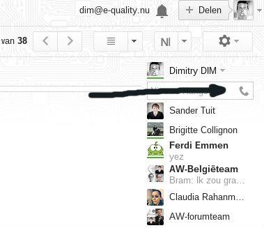 Bellen via Hangouts verschijnt opeens, bij wie werkt het ook al?