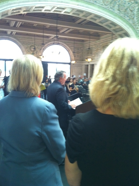 I spoke @ press conf with Mayor Daley&Barbara Fairchild (Bon Ap Mag) announcing 3rd annual Chgo Gourmet in Sept