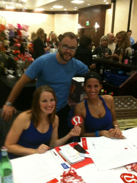 @lululemon Melissa, Brian and Kendra @ the Health and Wellness Expo Lululemon Athletica booth!