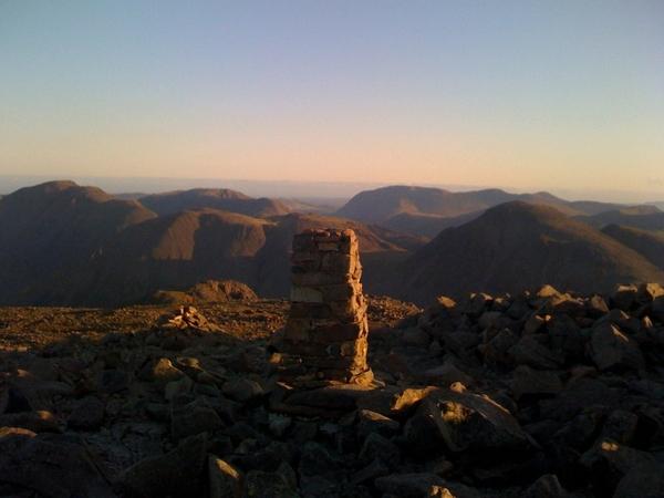 Scafell Pike summit trig point, 6:10am