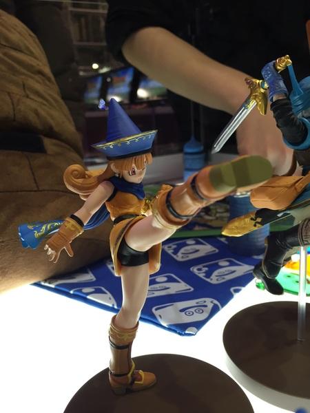 アリーナの見事な蹴りを再現したフィギュアも展示してありますよ!もちろん発売予定(^-^)/ #DQH