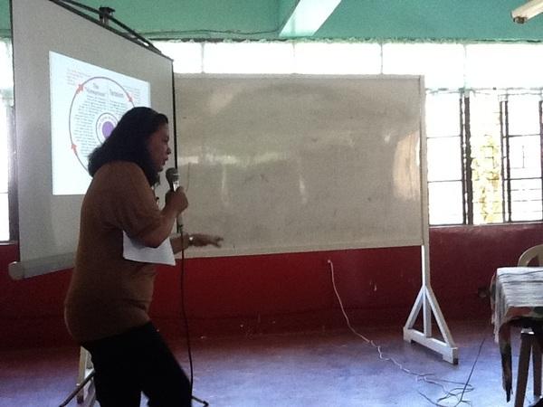 Ms. Dolly Yanan of Yokubari Foundation discussing RA 9262 Anti VAWC Act