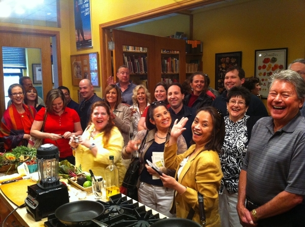 Wonderful group of people at my 1st cooking demo 2day. Frontera Farmer Foundation Benefit!