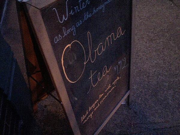 Obama tea or obamination?