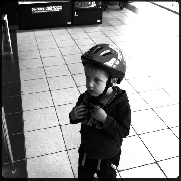 Fletcher of the day: ready for a bike ride!