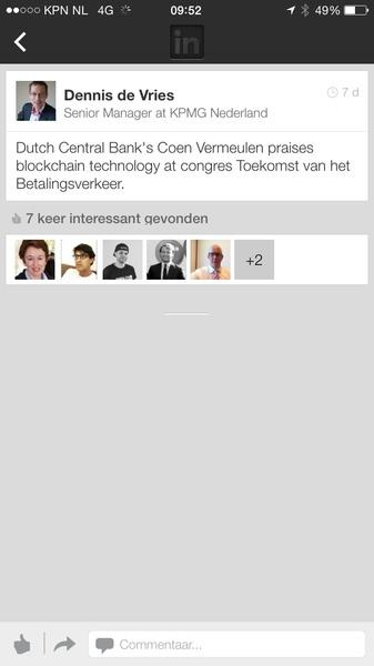 DNB is positief over #blockchain technology #bitcoincongres kijk live mee http://bitcoincongres.nl