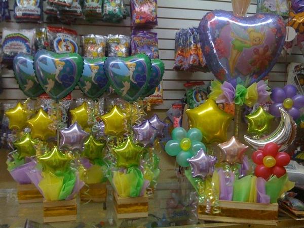 Arreglos con globos de tinkerbell- campanita