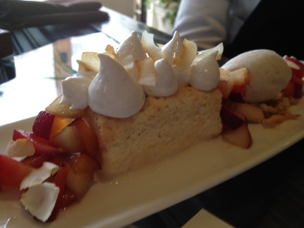 Red O, LA: working w pastry chef Jen Jones on new desserts: coconut tres leches cake w local stone fruit,Mex van ice cr