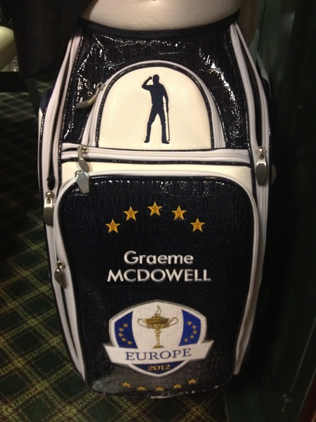 Some of my most prized possessions are my Ryder cup golf bags. Our bag this year has a little touch of class.. #RIPseve