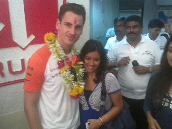 yeah thats me and adrian sutil in #mumbai