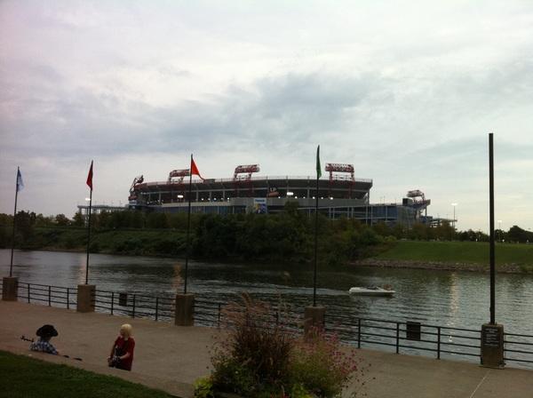 Het stadion van vanmiddag... #nashville