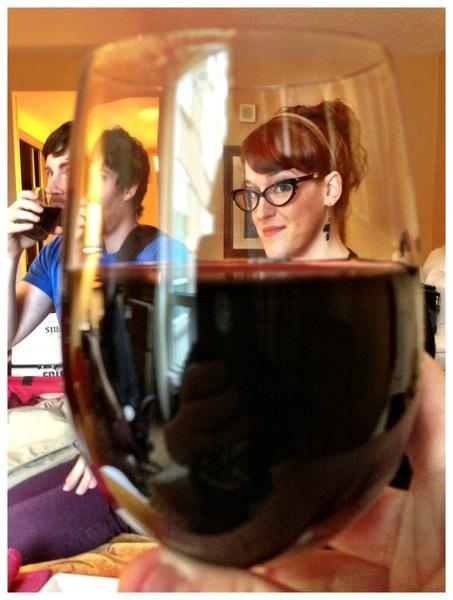 It is wine time with @speakerwiggin @herosteve, @beckylikesowls. #fb