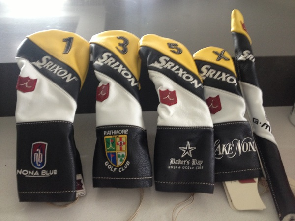 Huge thank you to Bert and all the guys at @iliacgolf for my new head covers! @BakersBay @Nonabluetavern @LakeNonaGCC