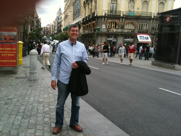 Taking in Madrid. A dynamic city. Full of life.
