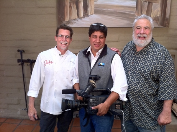 While at Sunset Celebration, I shot a segment w Bruce Aidells for his Live Well show. Gr8 making dif guacs w him